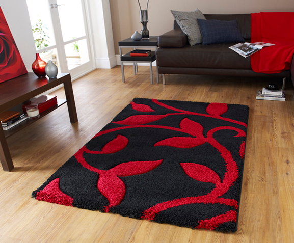Superb Fashion Carving Black Red Rugs Part 18
