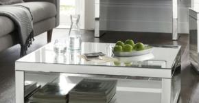 Mae Coffee Table Glass Modern