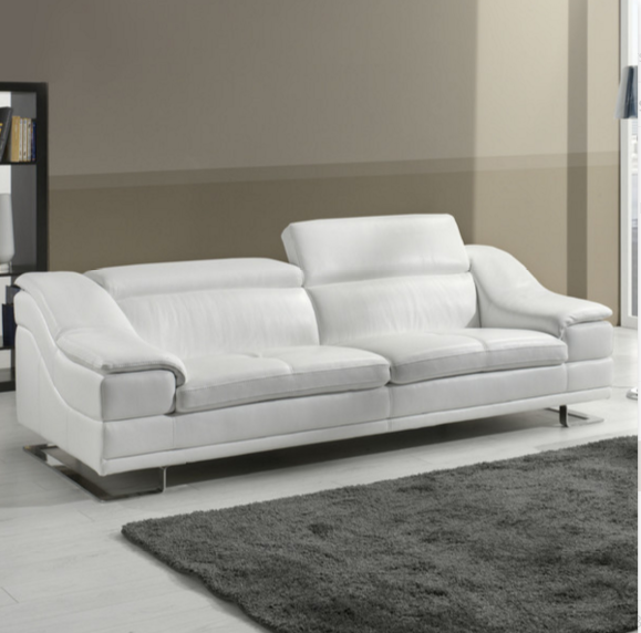 White Leather Luxurious Sofa