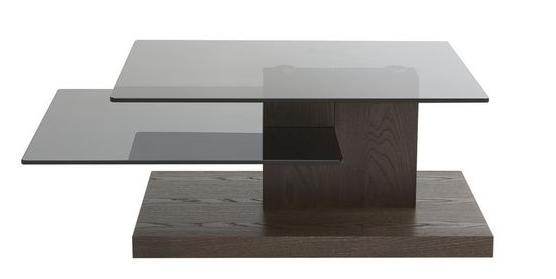 Tier Glass Top Modern Coffee Table