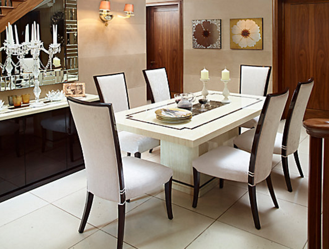 7 Beautiful White Rectangular Table Sets For Everyday Use - Cute ...