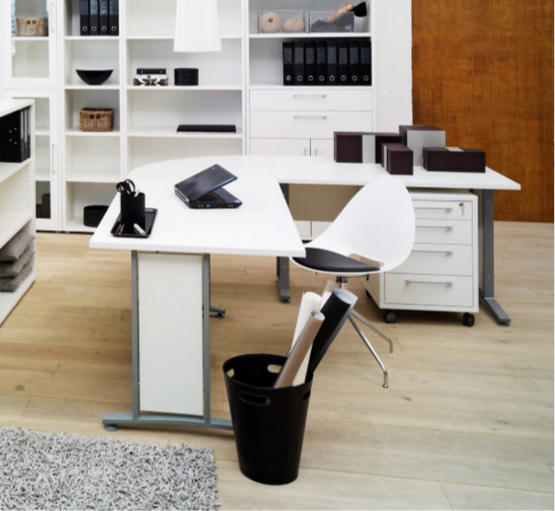 Tvilum Prima Executive Desk with Cable Management