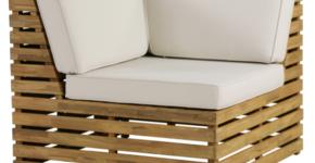 Venetian Corner Sectional Chair with Cushion