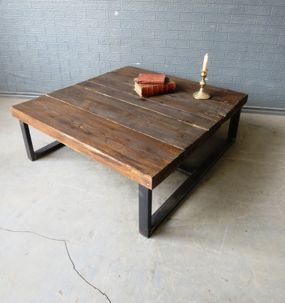 Large Coffee Table Industrial Style: 8 Beautiful Industrial Coffee Tables