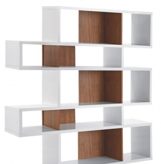 ANTONN Tall white_walnut shelving unit