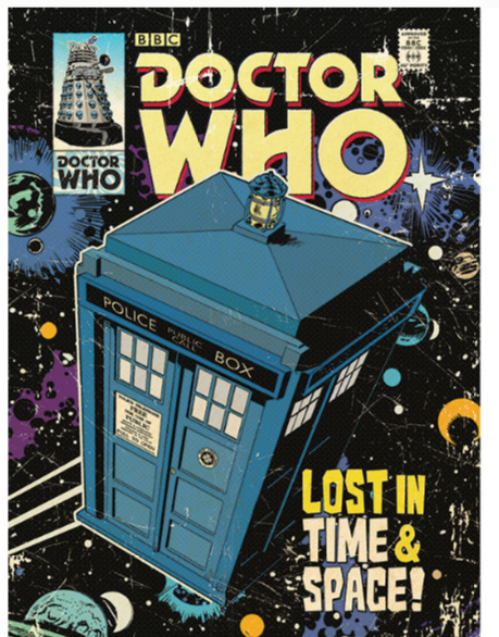Doctor Who - Lost in Time and Space Vintage Advertisement on Canvas