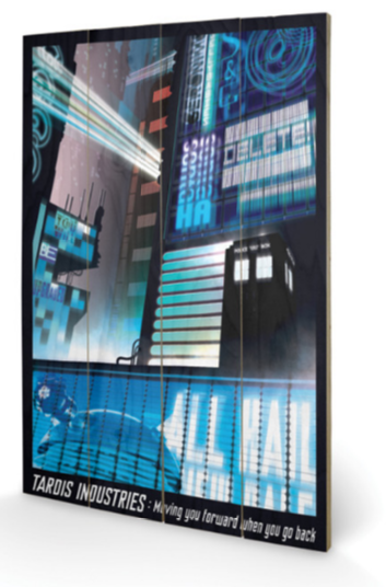 Doctor Who Tardis Industries Photographic Print Plaque