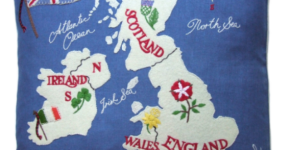 British Isles Map Cushion