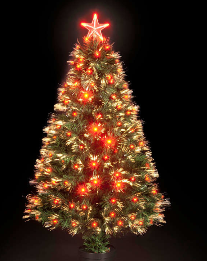 the-seasonal-aisle-4-green-artificial-christmas-tree-with-130-red-led-lights