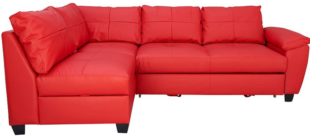 Red corner sofas uk 7 beautiful red corner sofas for your for Leather corner sofa beds uk