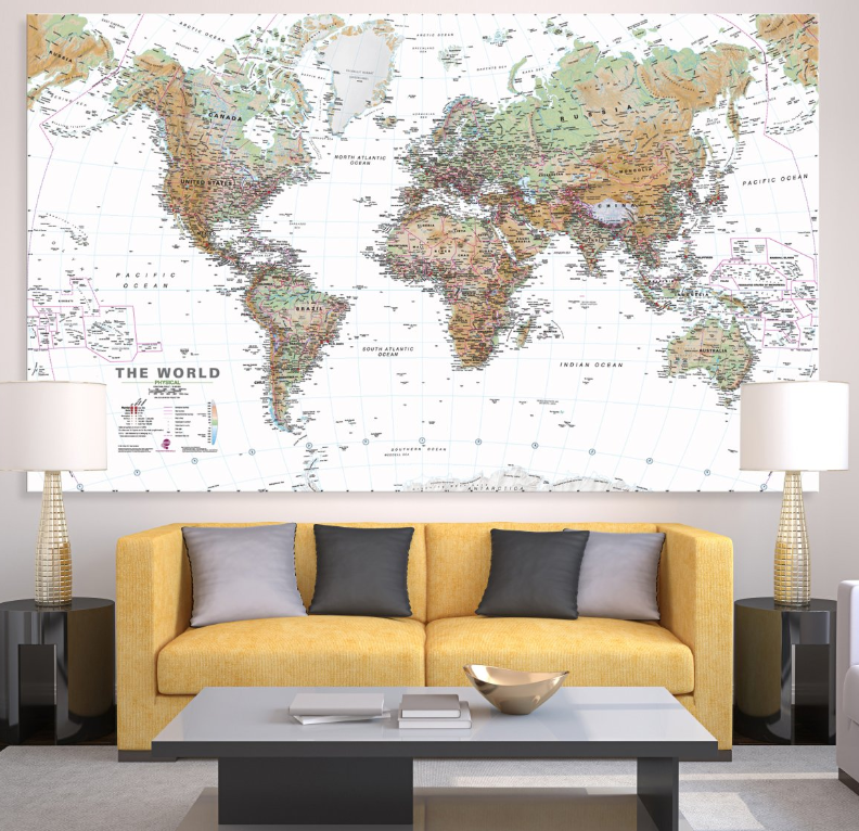 white-ocean-physical-world-map-graphic-art-print-on-canvas