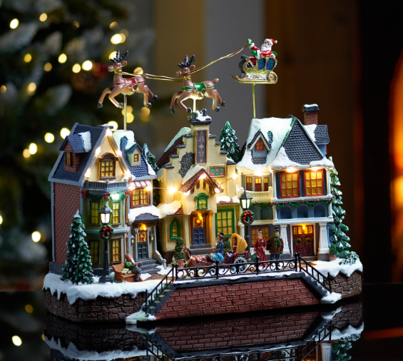 musical-village-scene-with-flying-sleigh