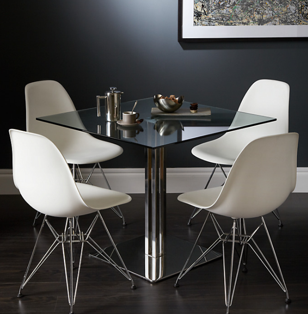 Tropez Squaregl 4 Seater Dining Table