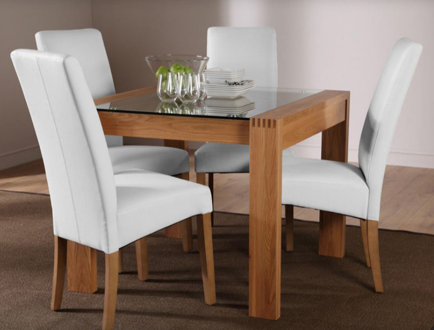 Gl Sqaure Calisto Dining Table Set